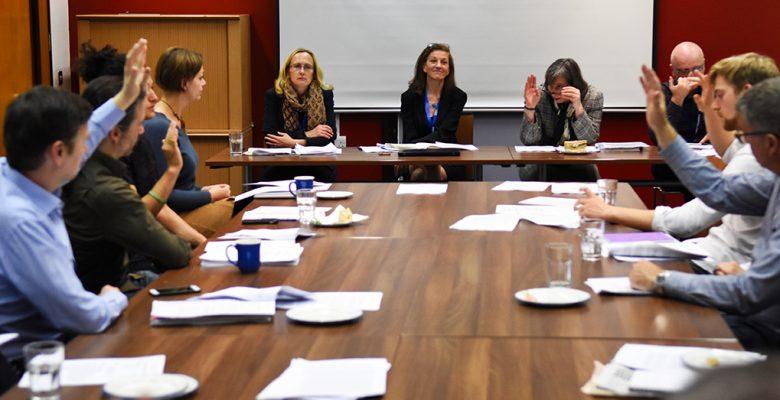 board members at meeting