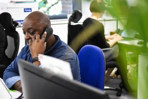 contact centre advisor on phone